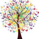 arbre papillons